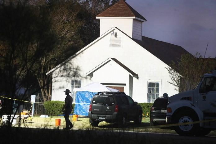 Primeira Igreja Batista de Sutherland Springs, palco do massacre que deixou 26 mortos no Texas