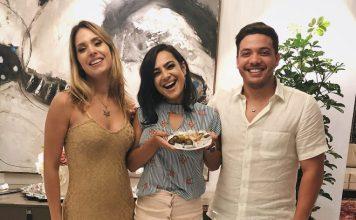 Daniela Araujo na festa de aniversário de Thyane Dantas, esposa de Wesley Safadão