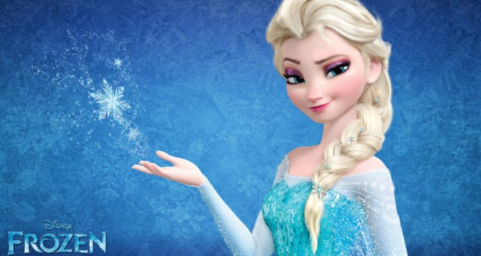 Rainha Elsa, personagem do filme animado da Disney