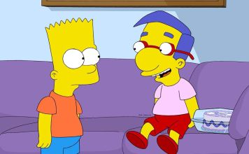 Bart Simpson e Milhouse
