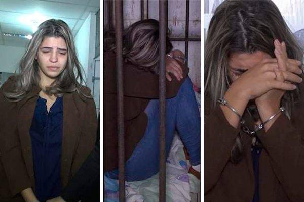 Juliana Salles foi presa por participação no homicídio dos filhos