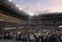 Mais de 56 mil fiéis se reuniram para comemorar os 100 anos da Igreja Evangélica Assembleia de Deus em Pernambuco Foto: Guga Matos / JC Imagem