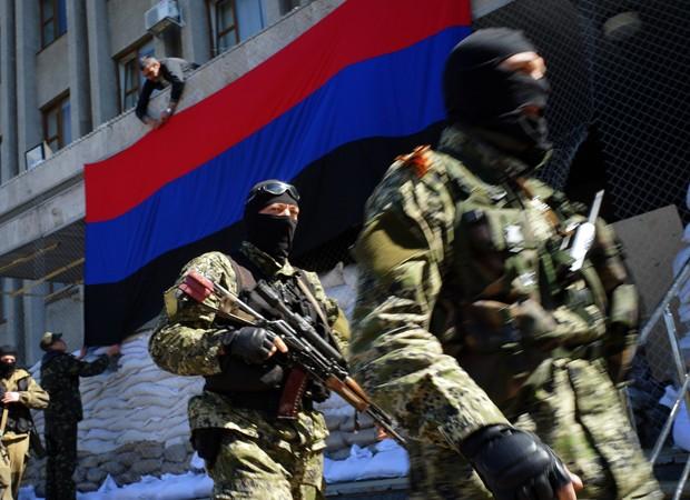 Rebeldes pró-Rússia na Ucrânia