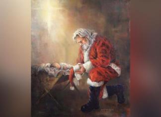 Imagem de Papai Noel ajoelhado diante do bebê Jesus foi bloqueada pelo Facebook