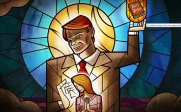 Domínio total de pastor sobre membros da igreja (Ilustração)