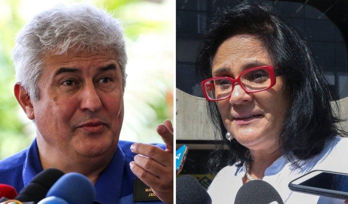 Ministro da Ciência e Tecnologia, Marcos Pontes, e a ministra da Mulher, Família e Diretos Humanos, Damares Alves