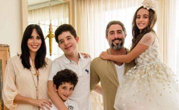 Apresentador Marcos Mion e sua família