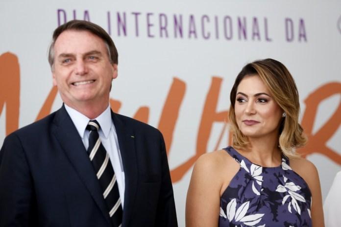 Jair Bolsonaro e Michelle Bolsonaro. (Foto: Presidência da República)
