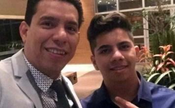 Daniel dos Santos e o pai, Anderson do Carmo