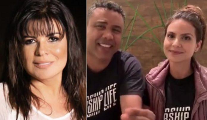 Mara Maravilha, Pr. Gilmar Santos e a cantora gospel Aline Barros. (Foto montagem)