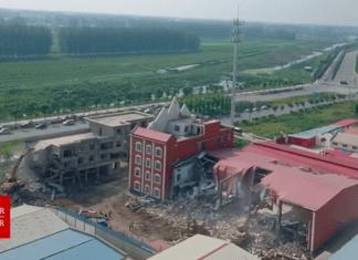Igreja 'Jesus Verdadeiro' foi demolida na China. (Imagem: Bitter Winter/YouTube)