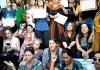 Mulheres cristãs argelinas cantam enquanto exigem liberdade religiosa em uma manifestação pacífica em Tizi-Ouzou, outubro de 2019.
