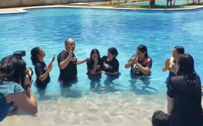 Bolsonaro participa do batismo da filha Laura em Brasília / Foto: Reprodução