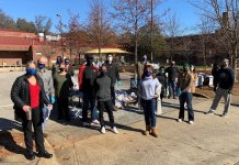 Voluntários se envolvem no Dia de Serviço de Martin Luther King Jr. em 2020. (Foto: Hands On Atlanta)