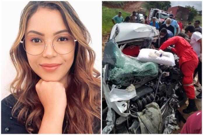 Cantora Amanda Wanessa sofreu grave acidente em Pernambuco Foto: Reprodução