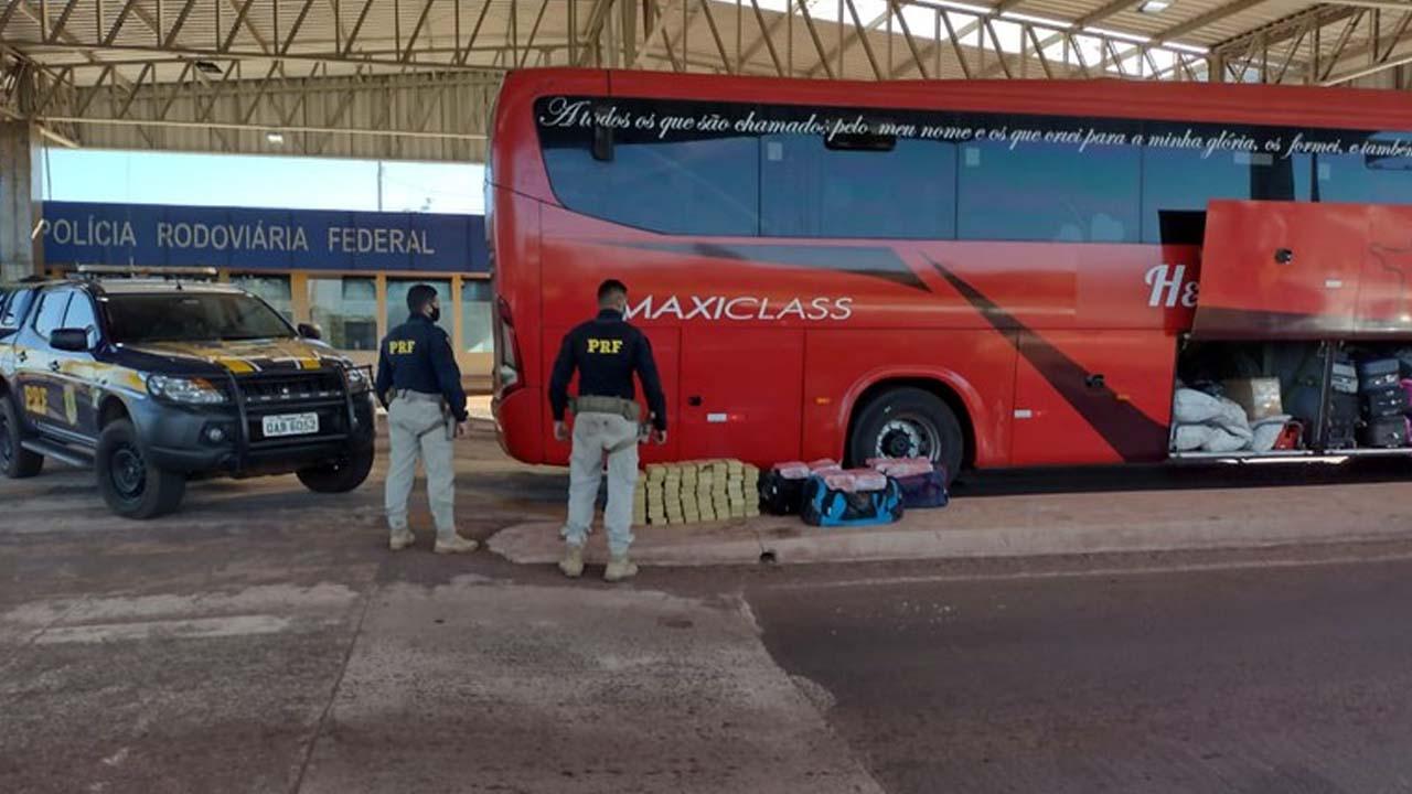 Read more about the article PRF apreende 167 quilos droga em ônibus que transportava bolivianos na BR-262