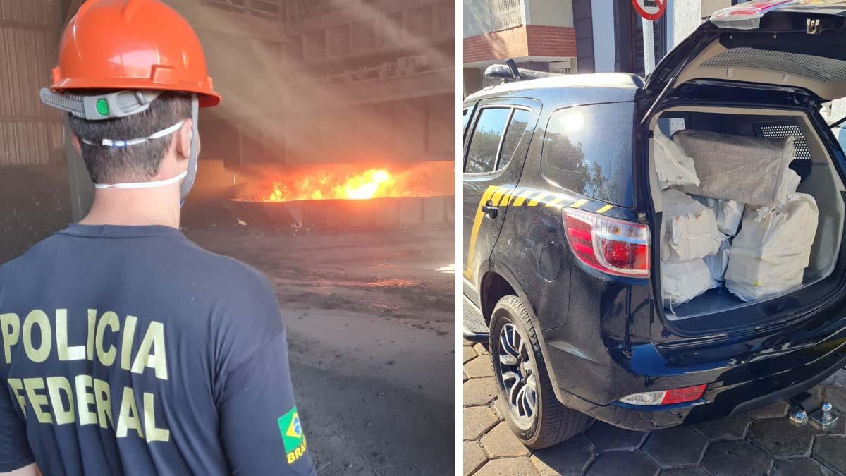 You are currently viewing Polícia Federal faz incineração de quase 400 quilos de entorpecentes em Corumbá