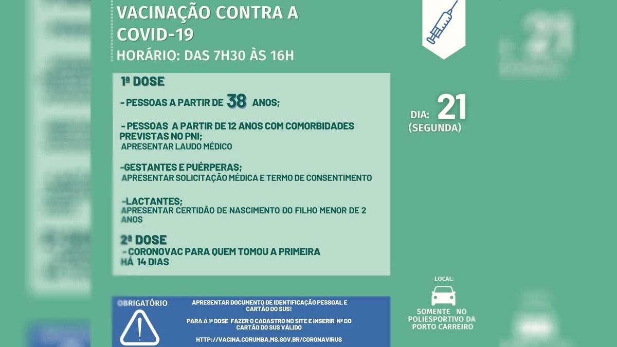You are currently viewing Vacinação contra covid-19 chega vai imunizar pessoas a partir dos 38 anos em Corumbá