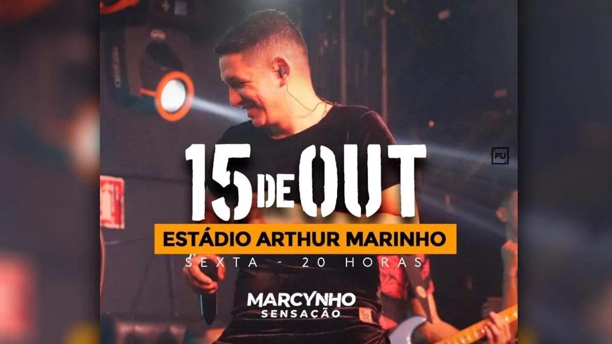 Read more about the article Corumbá retoma agenda de shows com apresentação de Marcynho Sensação no Arthur Marinho