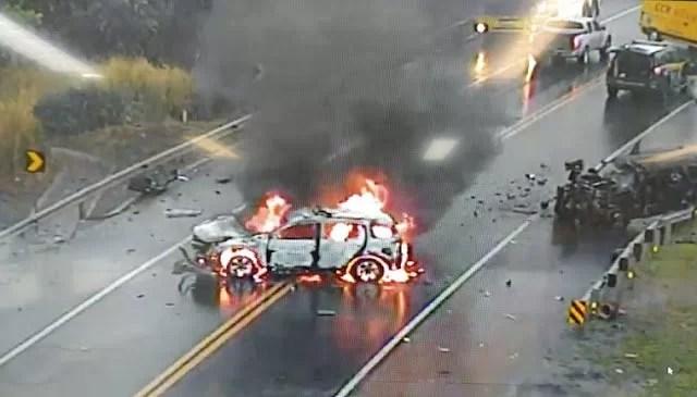 Read more about the article Policial rodoviário federal e condutor de Jeep Cherokee morrem em acidente na BR-163