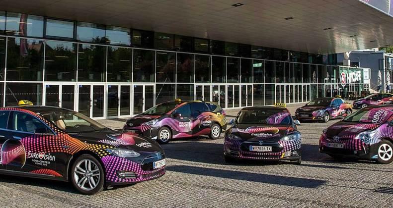 gradinger foliert eurovision song contest taxis