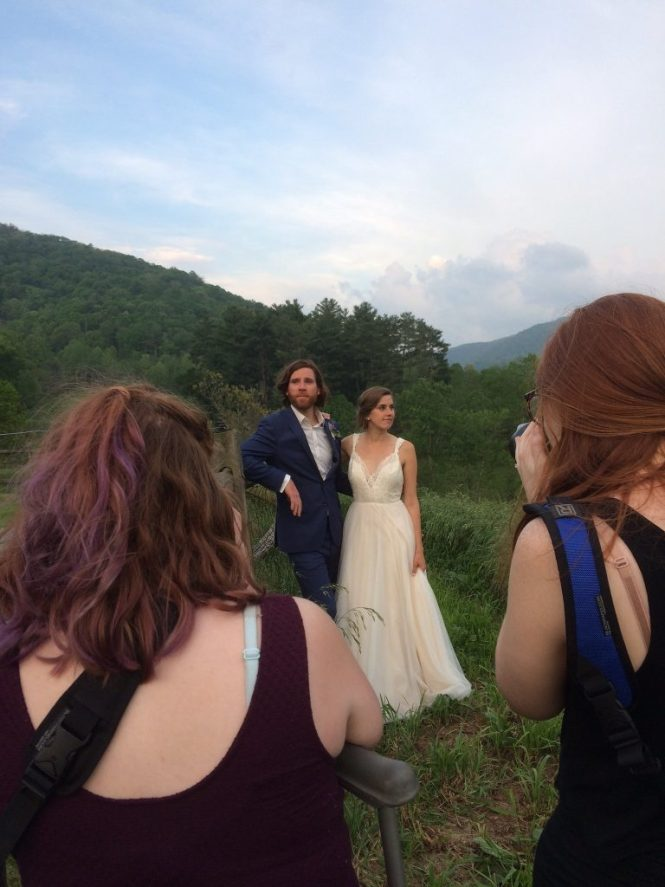 Folie à Deux Events Blog - Why You Need A Wedding Photographer - Jessica from Three Region Photography and Joanna of Joanna Sue Photography shooting a wedding together in Asheville, NC