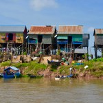 Houses on stilts, Cambodia