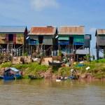 Houses on stilts, Cambodia