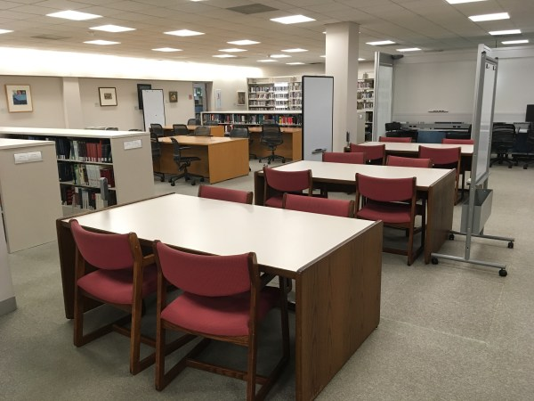 Study tables in library