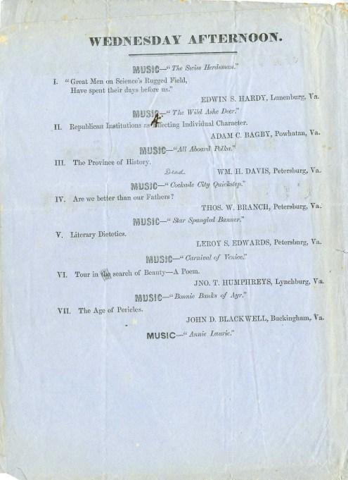 1859 graduation program page 1