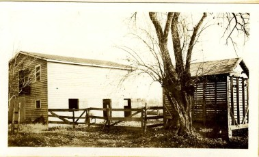 Stable and Corn Crib on R-MC Campus, 1938