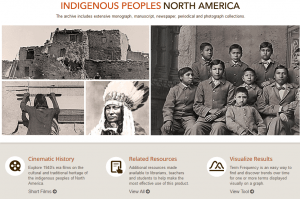 Screenshot of main screen for Indigenous Peoples of North America database