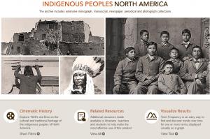Screenshot of main screen for Indigenous Peoples of North America database