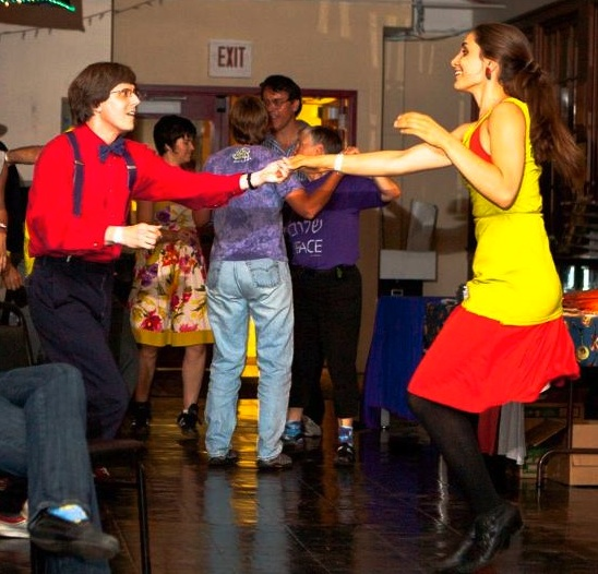 Swing dancing with Paul and Maya
