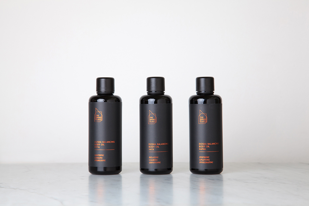 Three bottles of Body Oil by The Broad Place | Product branding by Folke Army