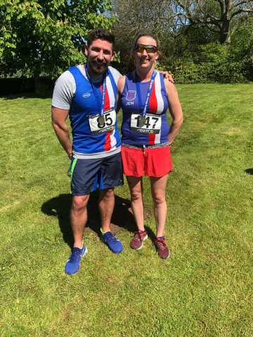 Jenny Quinn and Rob Hill at Stelling Minnis 10k
