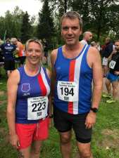 Tony Scott and Jenny Quinn at Bedgebury 5k and 10k
