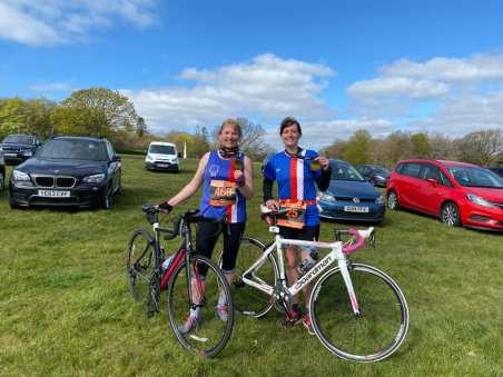 Jenny Quinn and Maria Chapman at the Kent Duathlon