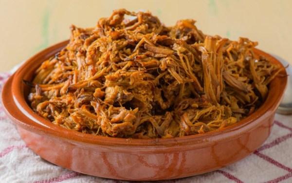 Pulled pork med BBQ-saus