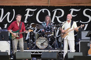 Ken Nicol, Paul Burgess and Rick Kemp at New Forest Folk Festival 2018