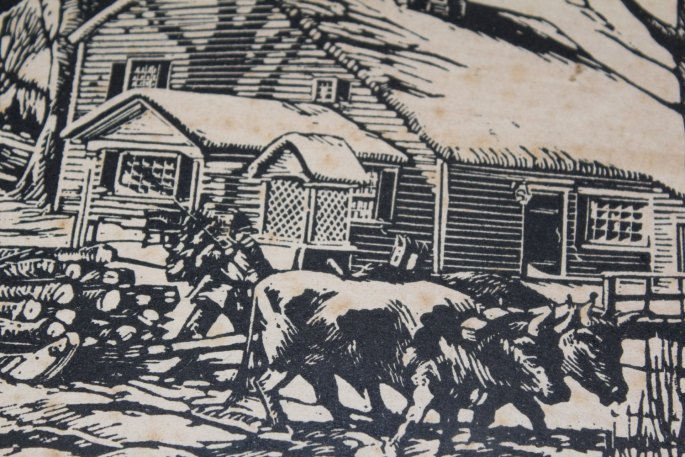 1930 Lowell Leroy Balcom Artist Pencil Signed Woodblock