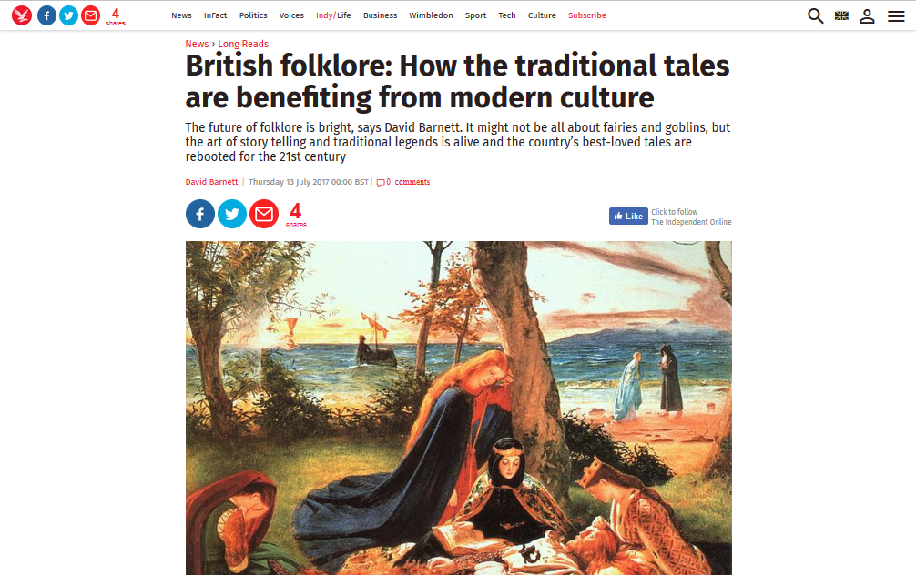 British folklore: How the traditional tales are benefiting from modern culture