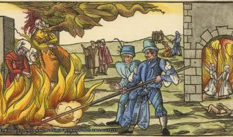 Einblattdruck zu einer Hexenverbrennung in Derenburg (Grafschaft Reinstein) 1555