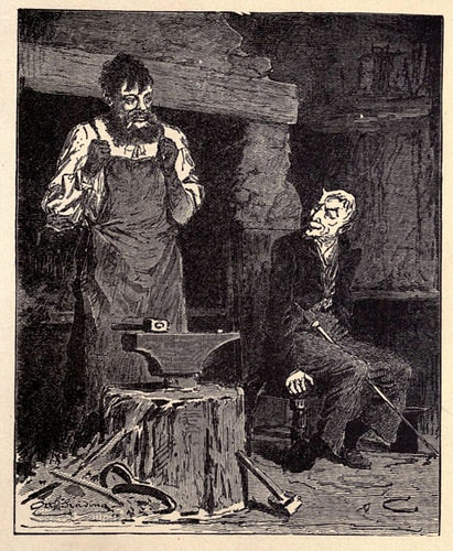 1916 illustration for the folk tale, 'The Smith and the Devil'© Leonard A. Magnus (translated), 1916, Russian Folk Tales, Dutton and Co. https://en.wikipedia.org/w/index.php?curid=51560878