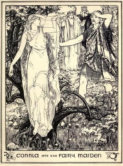 Connla and the Fairy Maiden, Illustration from Celtic Fairy Tales by Joseph Jacobs, 1892