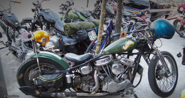 Photograph of green motorbike by Steve Toase