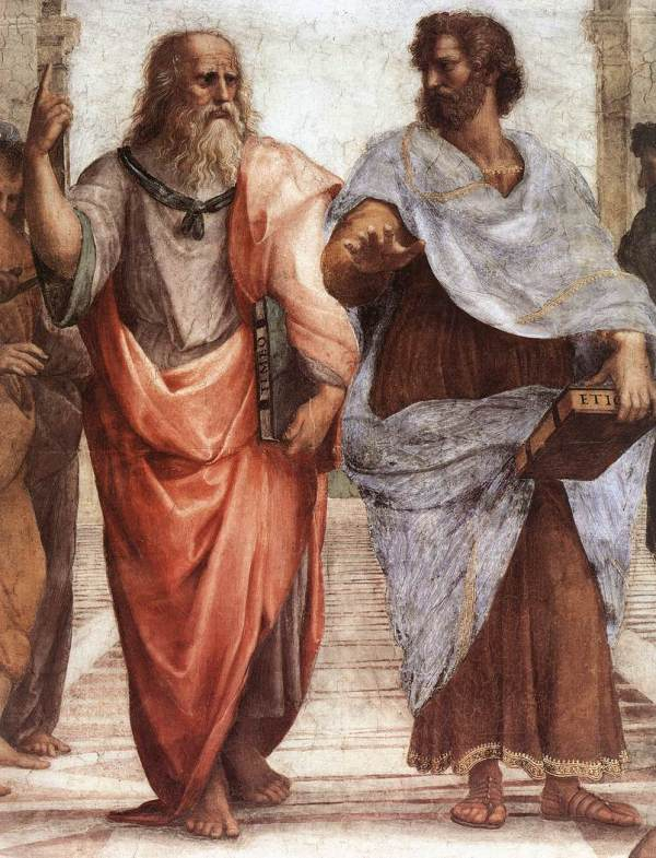 Plato and his student Aristotle https://commons.wikimedia.org/wiki/File:Sanzio_01_Plato_Aristotle.jpg