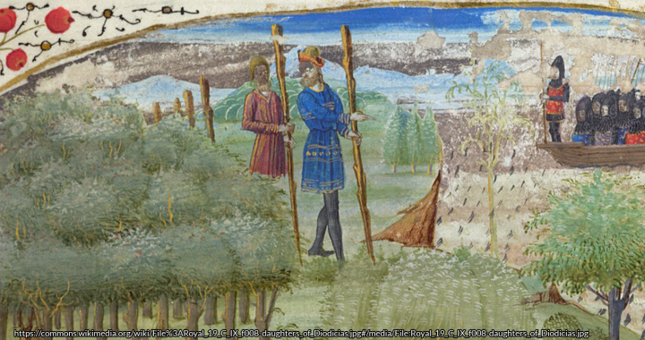 Gog and Magog wandering through the countryside