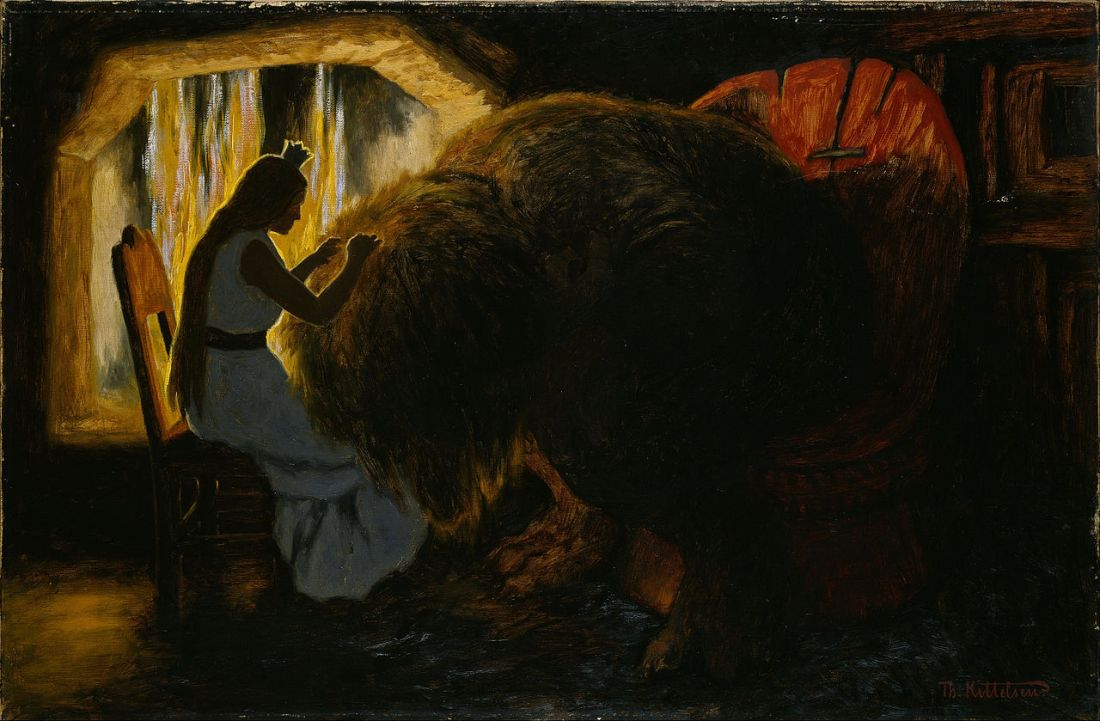 The princess nitpicking, by Theodor Kittelsen https://commons.wikimedia.org/wiki/File:Theodor_Kittelsen_-_The_Princess_picking_Lice_from_the_Troll_-_Google_Art_Project.jpg