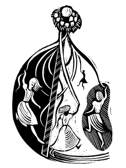 Illustration by Joe McLaren, from A Treasury of British Folklore: Maypoles, Mandrakes & Mistletoe by Dee Dee Chainey.